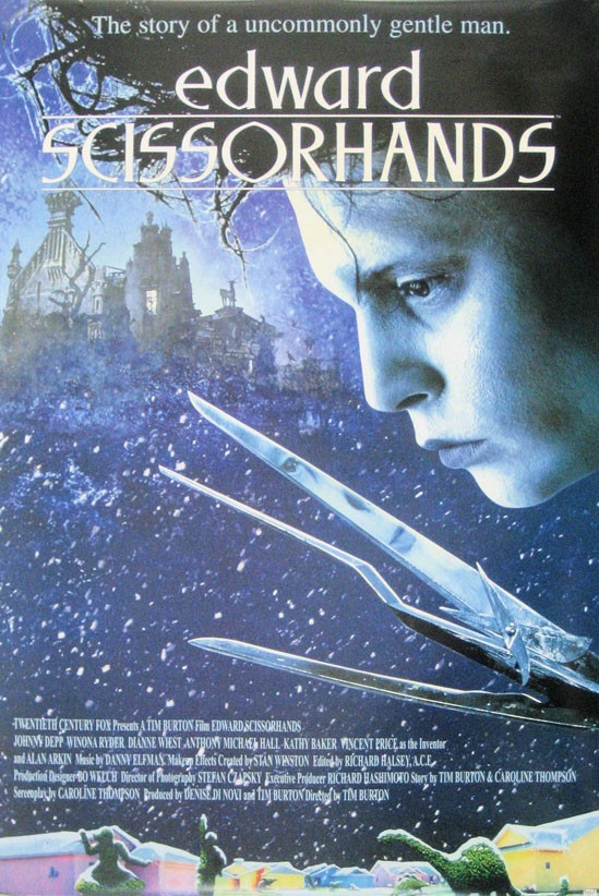 Compare the Feature Film, Edward Scissorhands and the Plot Summary Film of Frankenstein's Monster