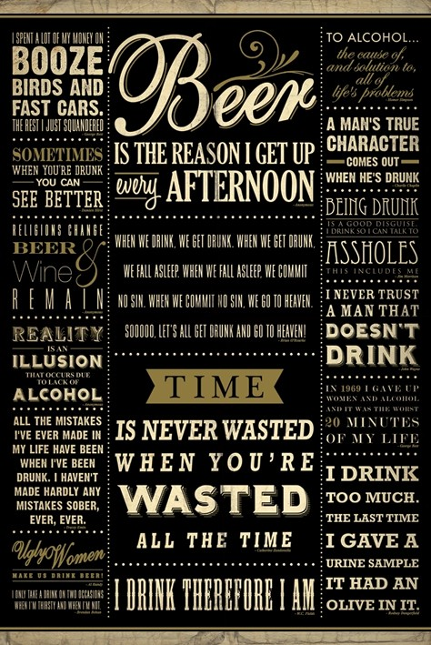 Drinking posters - Drinking Quotes poster PP32667 - Panic