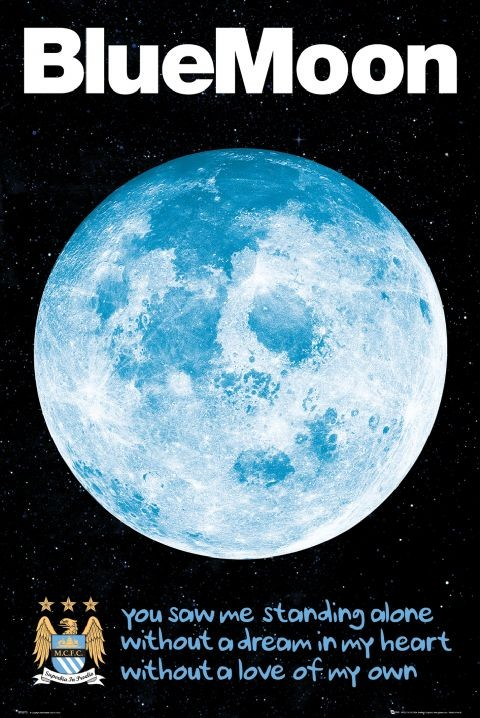 Manchester City Posters Man City Blue Moon Poster Sp0673