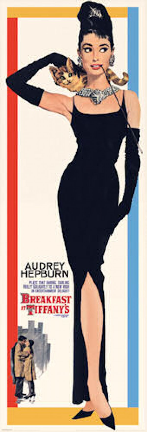 Audrey Hepburn Breakfast At Tiffanys Door Poster
