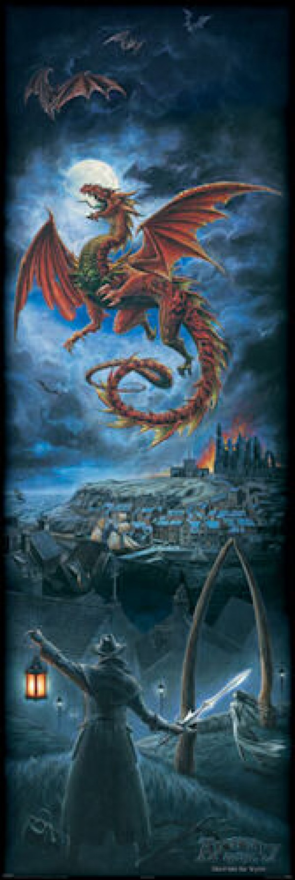 Whitby Wyrm Dragon Door Poster