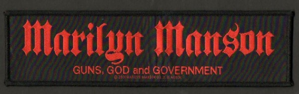 Marilyn Manson Guns, God and Government patch
