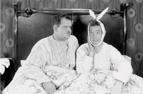 Laurel & Hardy (Bed) Poster