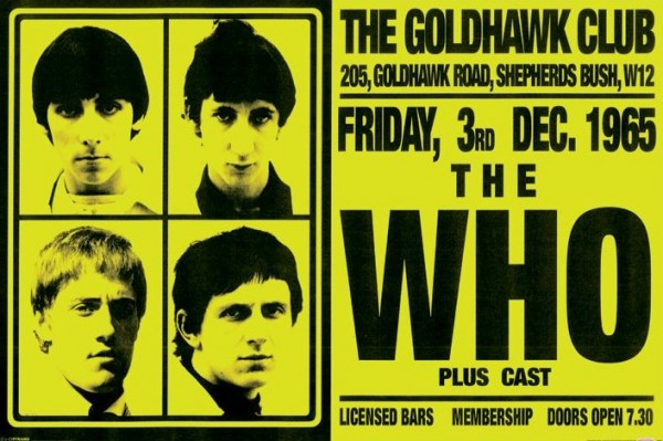 The Who Live at The Goldhawk Club poster