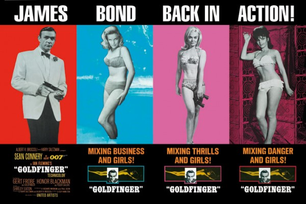 007 James Bond Goldfinger poster - Back In Action!