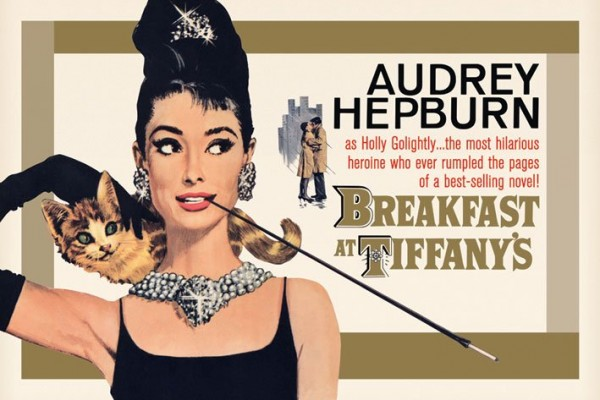 Audrey Hepburn Breakfast At Tiffanys (Gold One-Sheet) Poster