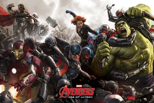 Avengers Age Of Ultron (Battle) Poster
