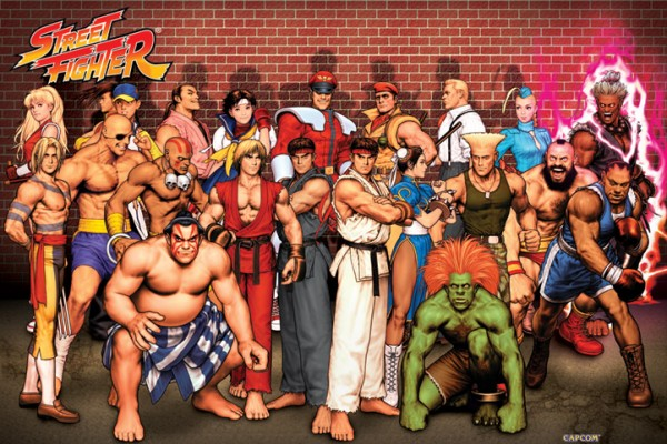 Street Fighter Characters Poster