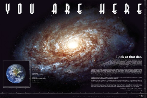 You Are Here (Space) Poster
