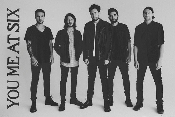 You Me At Six (B/W Band) Poster