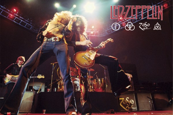Led Zeppelin Plant & Page On Stage Poster