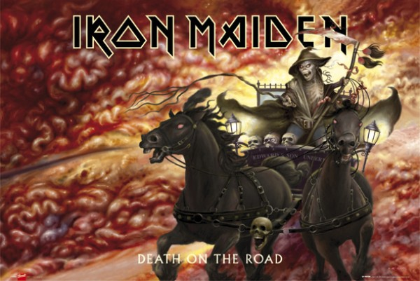 Iron Maiden Death On The Road Poster