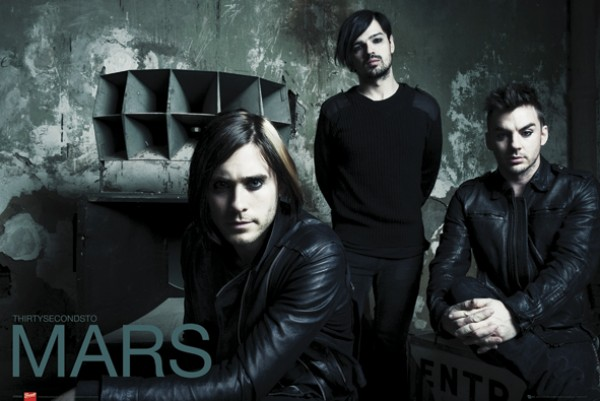 30 Seconds To Mars (Black) Poster