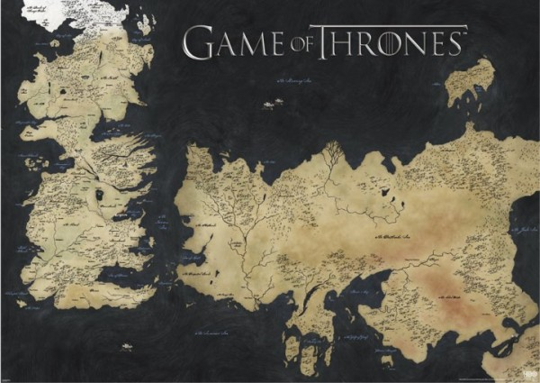 Game Of Thrones Map Giant Poster