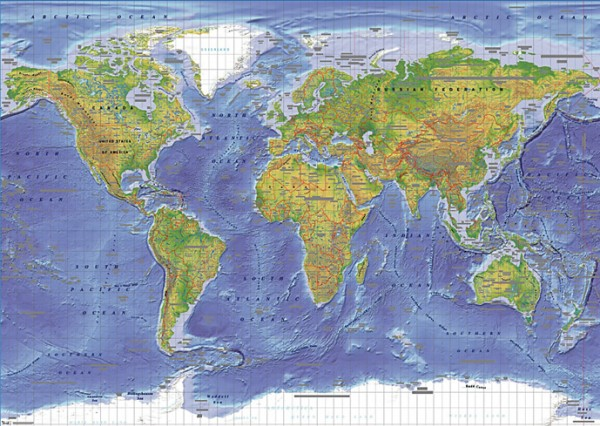 World Map posters - World Map Terrain giant poster GPP30433 ... on giant globe maps, world map with countries poster, small world map poster, giant periodic table poster, extra large world map poster, high resolution world map poster, ikea world map poster,