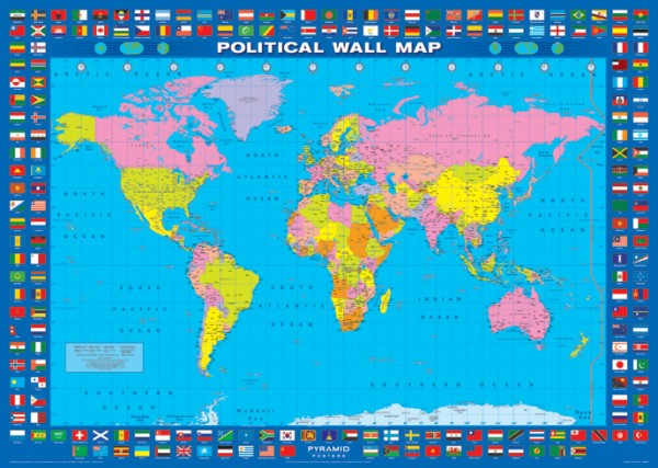 World map posters world map flags giant poster gpp0467 panic world map flags giant poster gumiabroncs Image collections