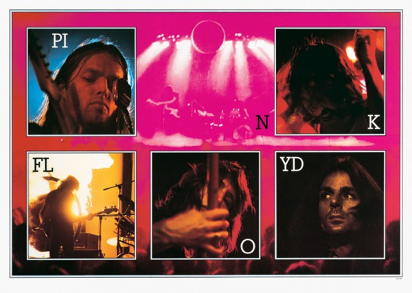 Pink Floyd On Stage Poster