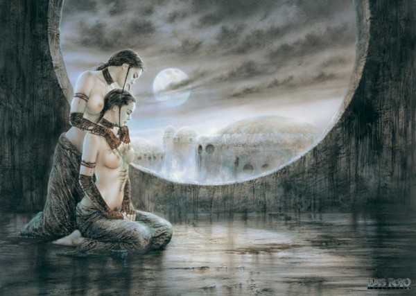 Luis Royo Moonlight Poster