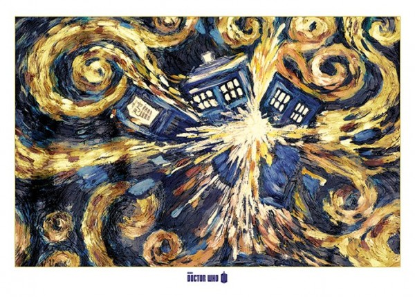 Doctor Who Van Gogh Tardis Giant Poster