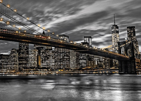 New York Brooklyn Bridge Assaf Frank Giant Poster