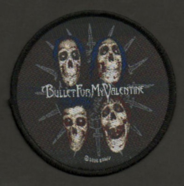 Bullet For My Valentine BFMV patch, featuring skulls and daggers