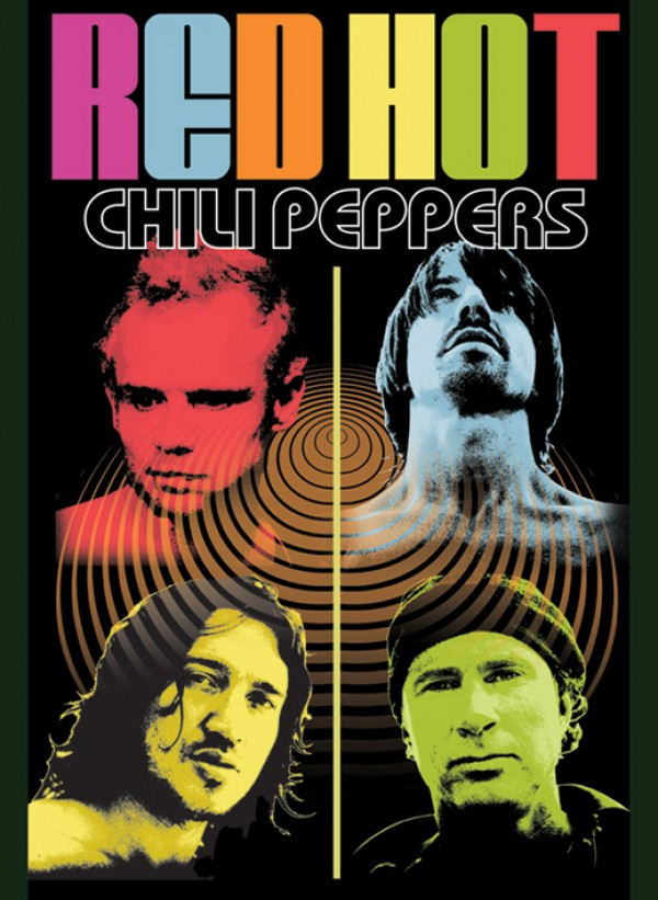 Red Hot Chili Peppers Color Me Poster
