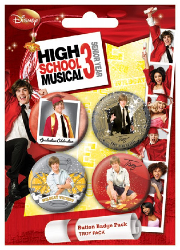 Zac Efron High School Musical Badge Pack