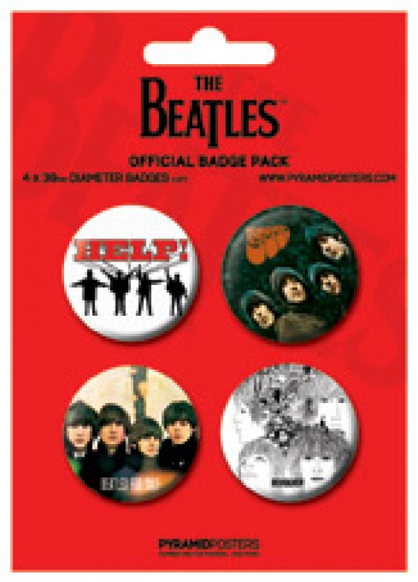 Beatles Badge Pack (Red)