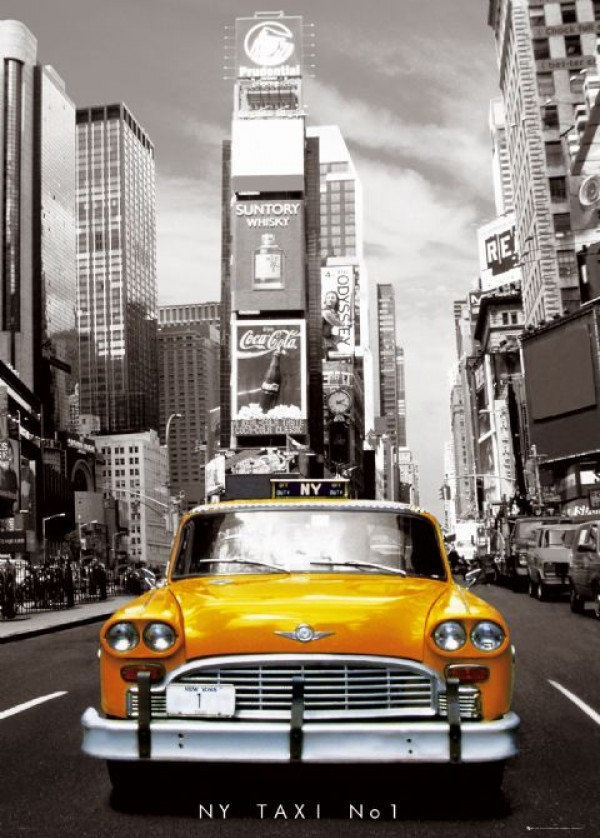 New York Yellow Cab Giant Poster