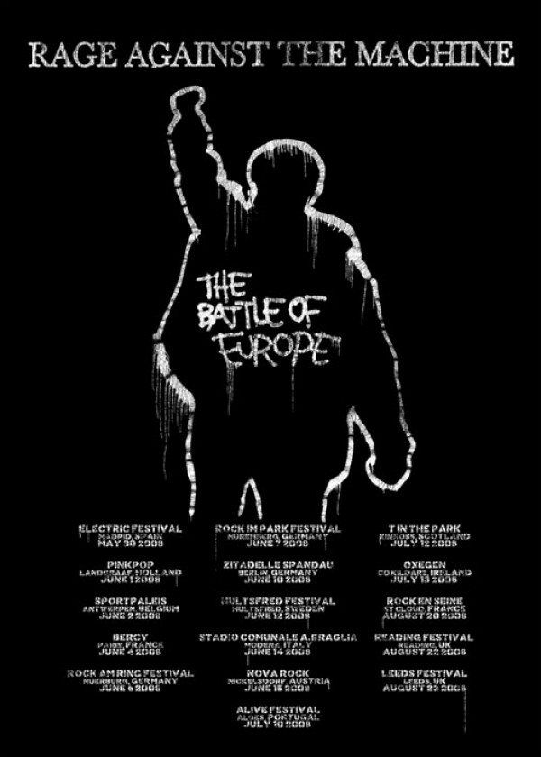 Rage Against The Machine Battle Of Europe Poster