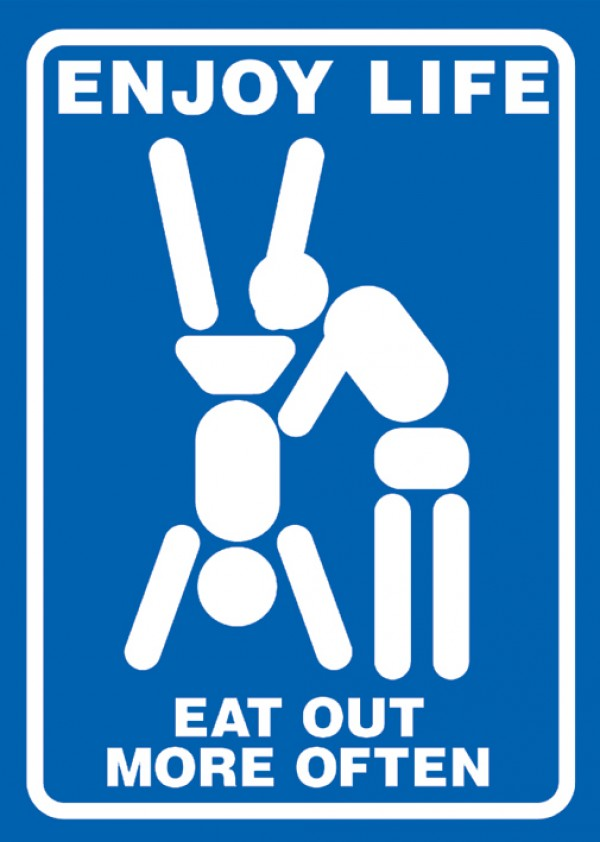 Eat Out More Often Poster