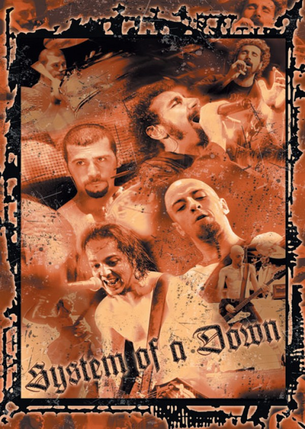 System Of A Down Live Montage Poster