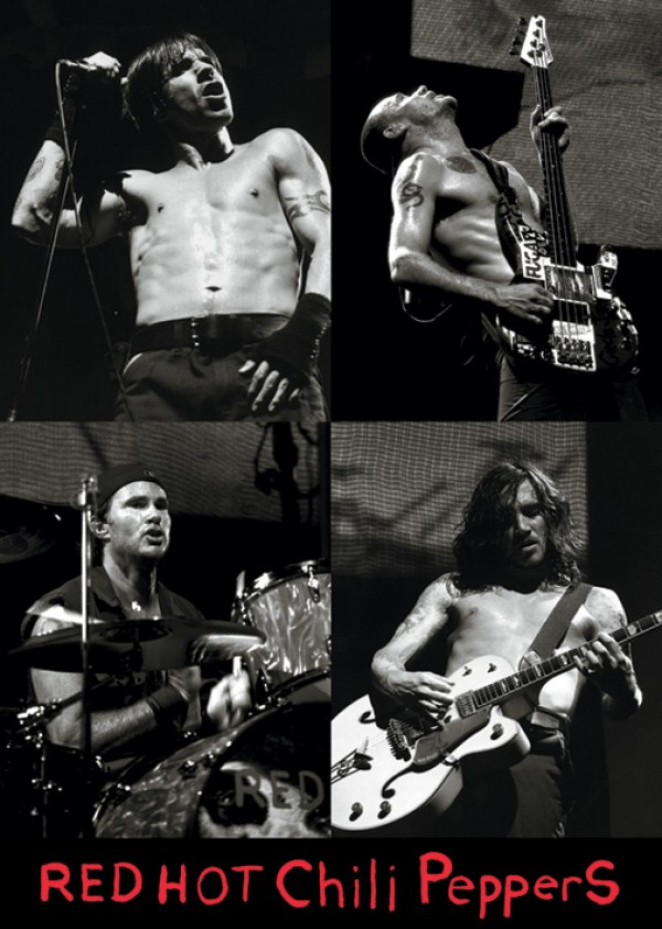 Red Hot Chili Peppers Live 4 Pics Poster
