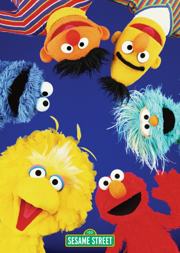 Sesame Street poster with Big Bird, Bert & Ernie, Elmo, Cookie Monster & Oscar