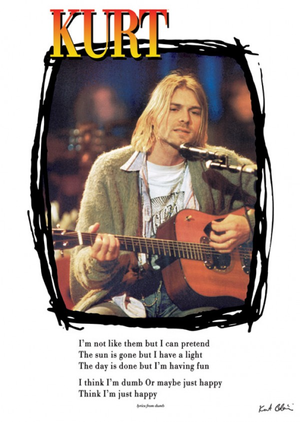 Nirvana kurt Cobain Lyrics To Dumb Poster