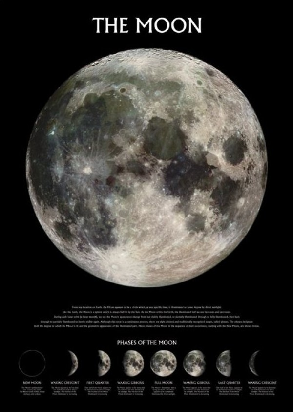 Earth's Moon Poster