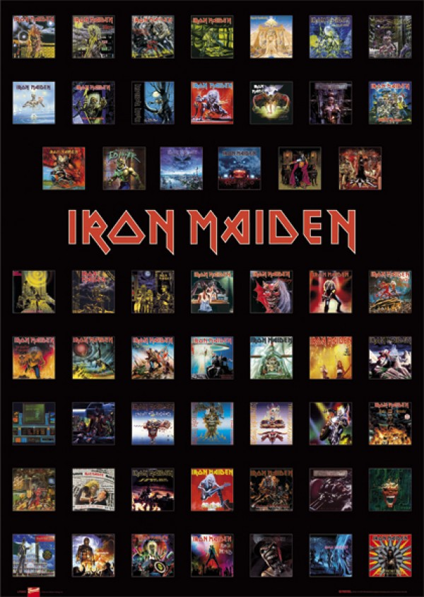 Iron Maiden Covers Poster
