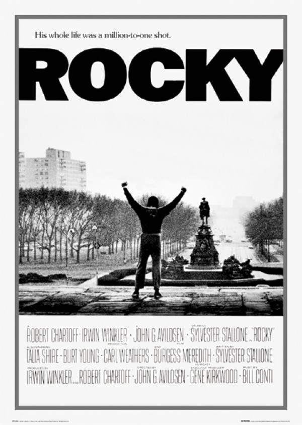 Rocky Cinema Poster featuring Sylvester Stallone