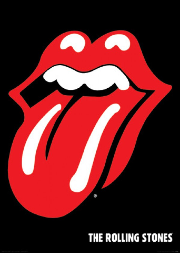 Rolling Stones Lips & Tongue Poster