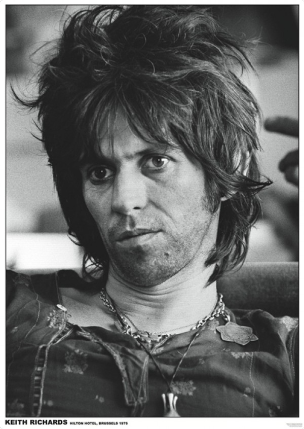 Rolling Stones (Keith Richards Brussels) Poster