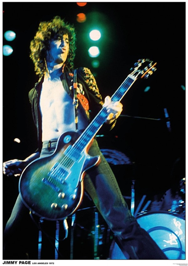 Led Zeppelin Jimmy Page (Los Angeles) Poster