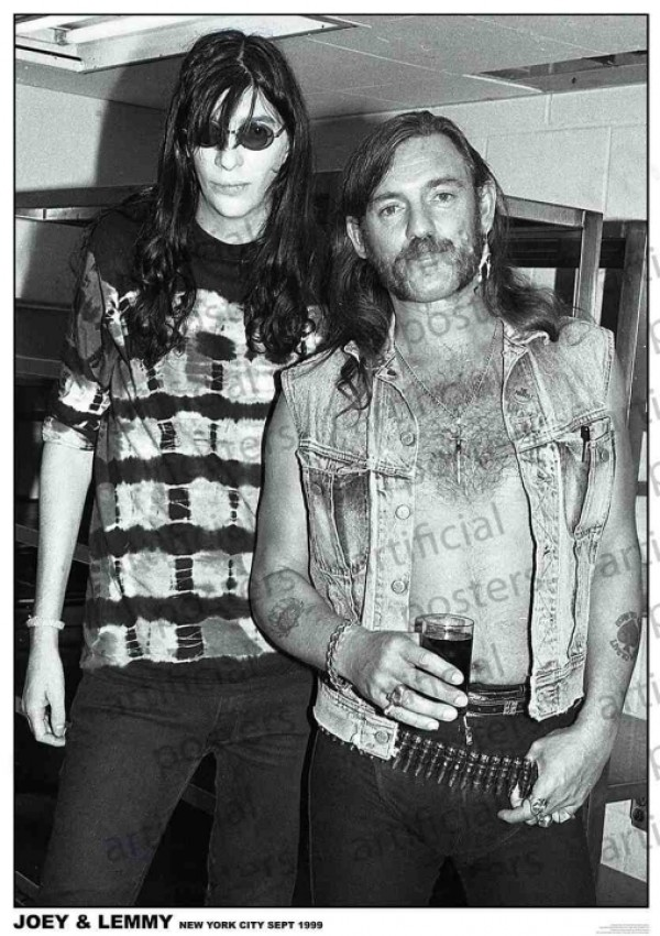Lemmy and Joey Ramone Poster