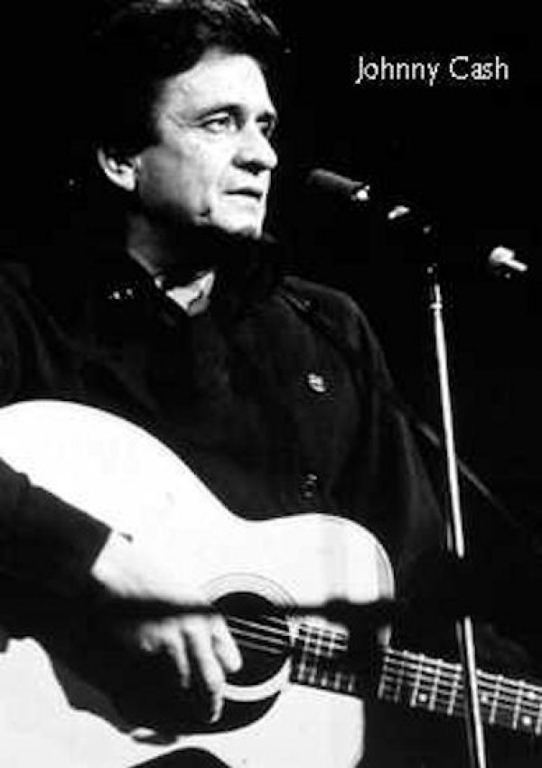 Johnny Cash Guitar Poster