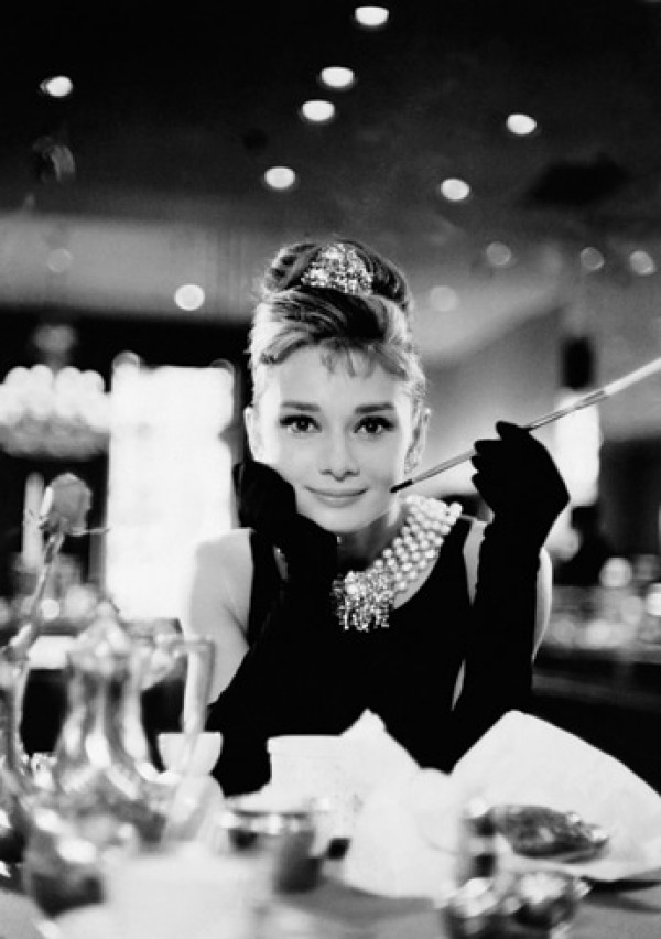 Audrey Hepburn Breakfast At Tiffanys Cigarello Giant Poster