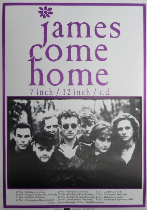 James Come Home Tour poster