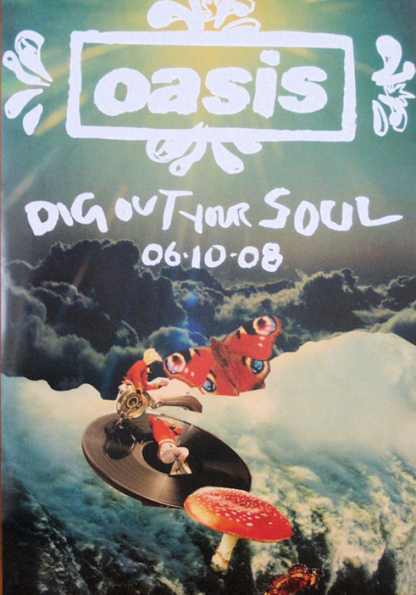 Oasis Dig Out Your Soul Promo Poster