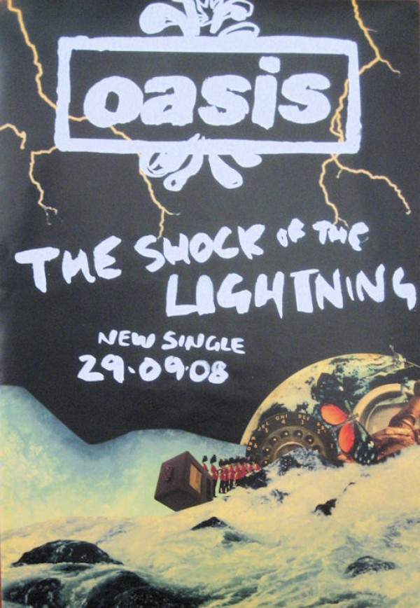 Oasis Shock Of The Lightning Promo Poster