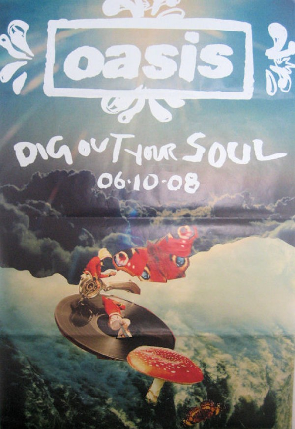 Oasis Dig Out Your Soul Giant Promo Poster