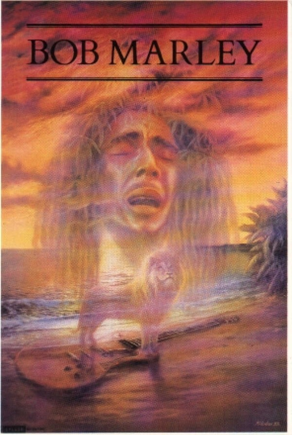Bob Marley Legend poster featuring art by Malcolm Horton