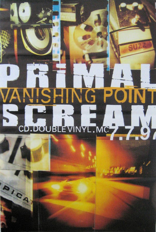 Primal Scream Vanishing Point Giant Promo Poster